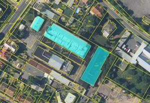 Kolín - LV 1235, snímek katastrální mapy
